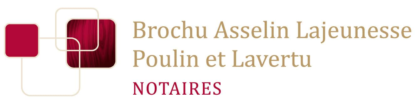 Brochu Asselin Lajeunesse, notaires – Poulin et Lavertu, notaires - Logo