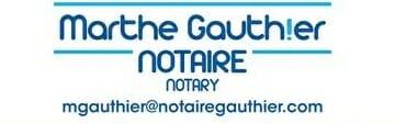 Me Marthe Gauthier, notaire - Logo